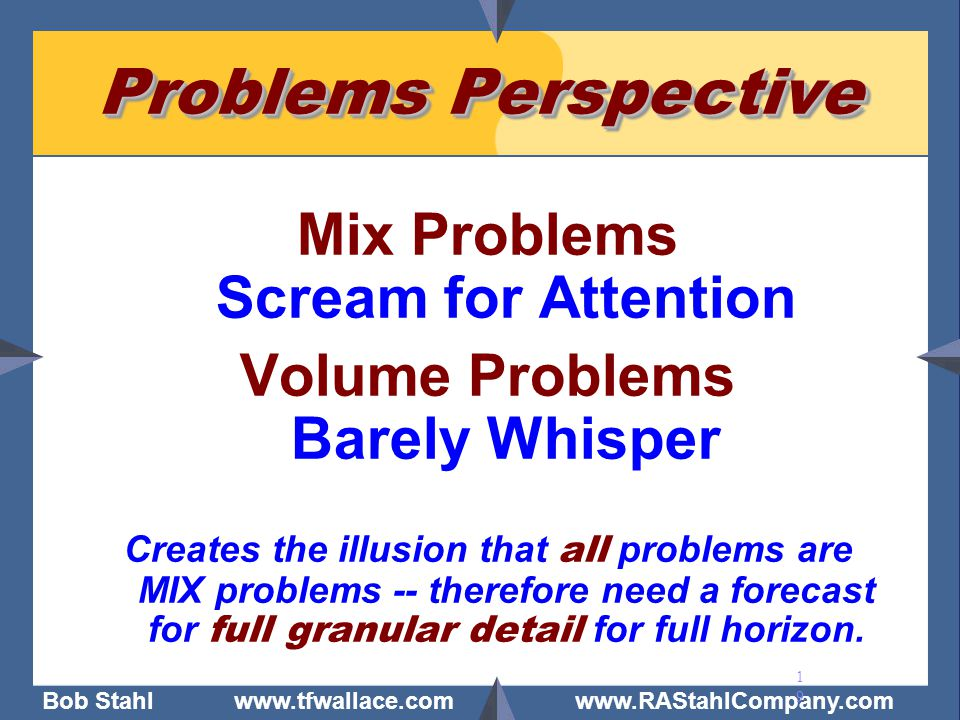Mix Problems Scream for Attention Volume Problems Barely Whisper