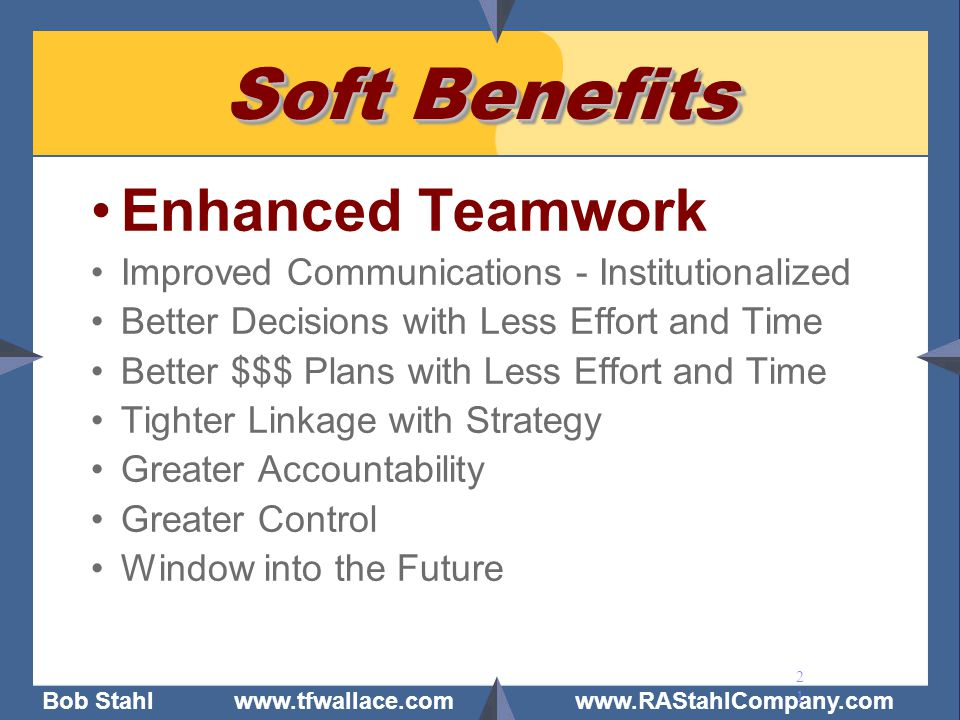 Soft Benefits Enhanced Teamwork