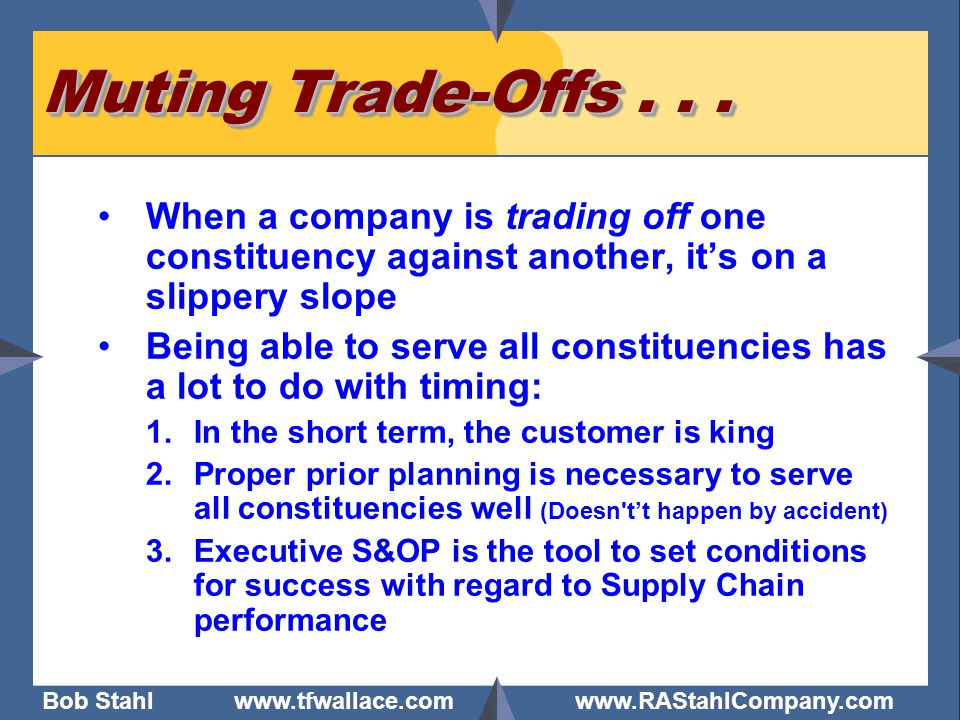 Muting Trade-Offs . . . When a company is trading off one constituency against another, it's on a slippery slope.