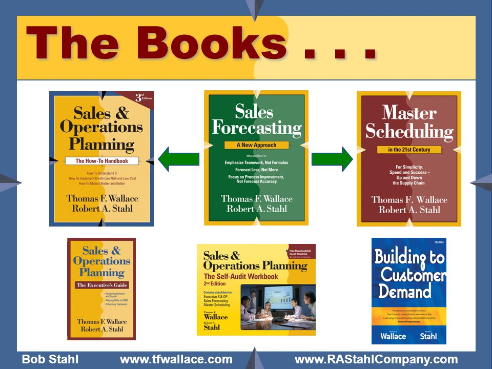 The Books . . . - Are you already doing Sales & Operations Planning