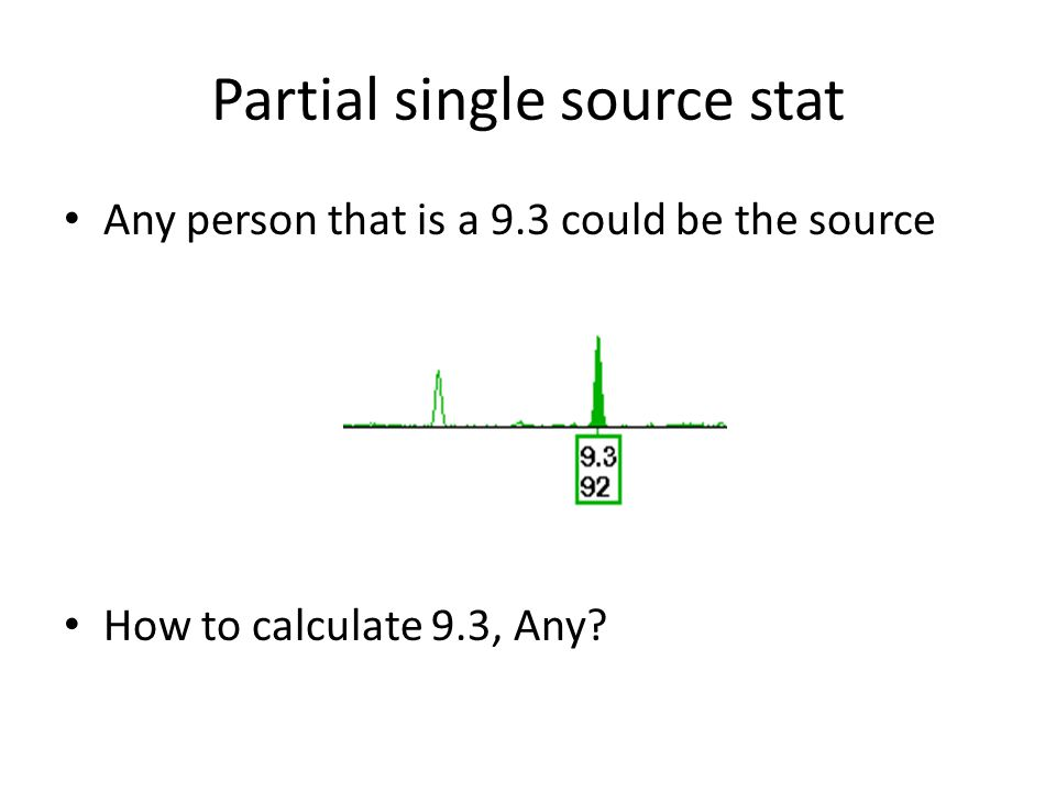 Partial single source stat