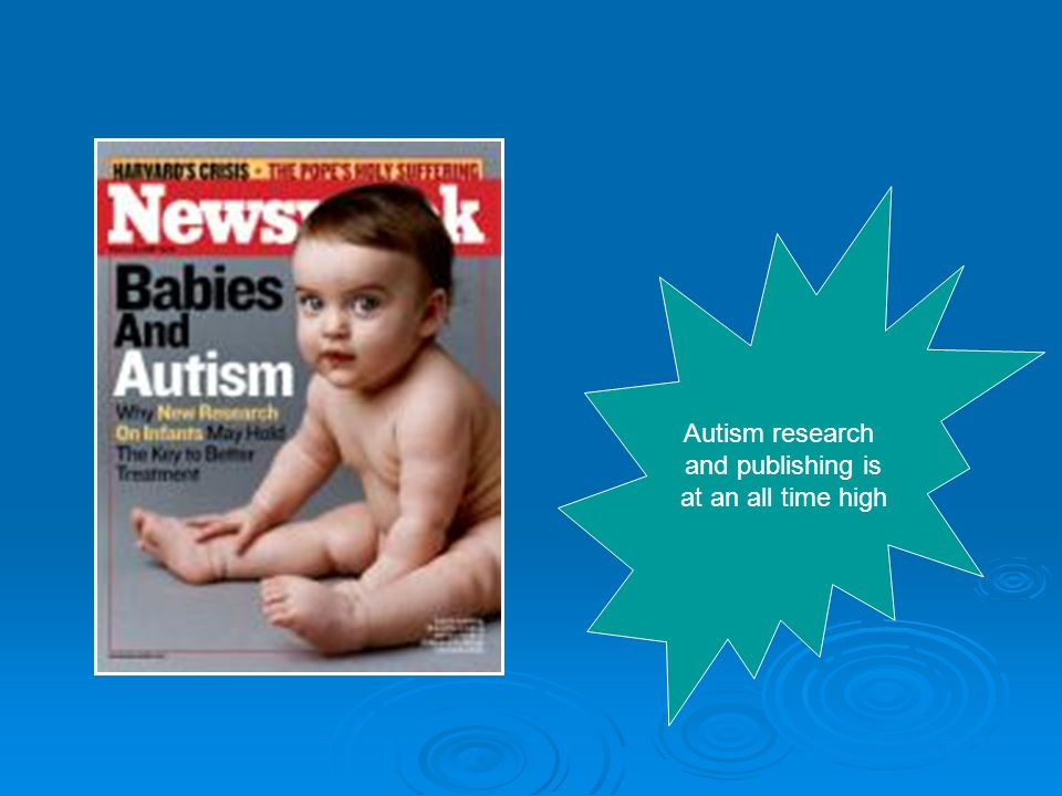 Autism research and publishing is at an all time high
