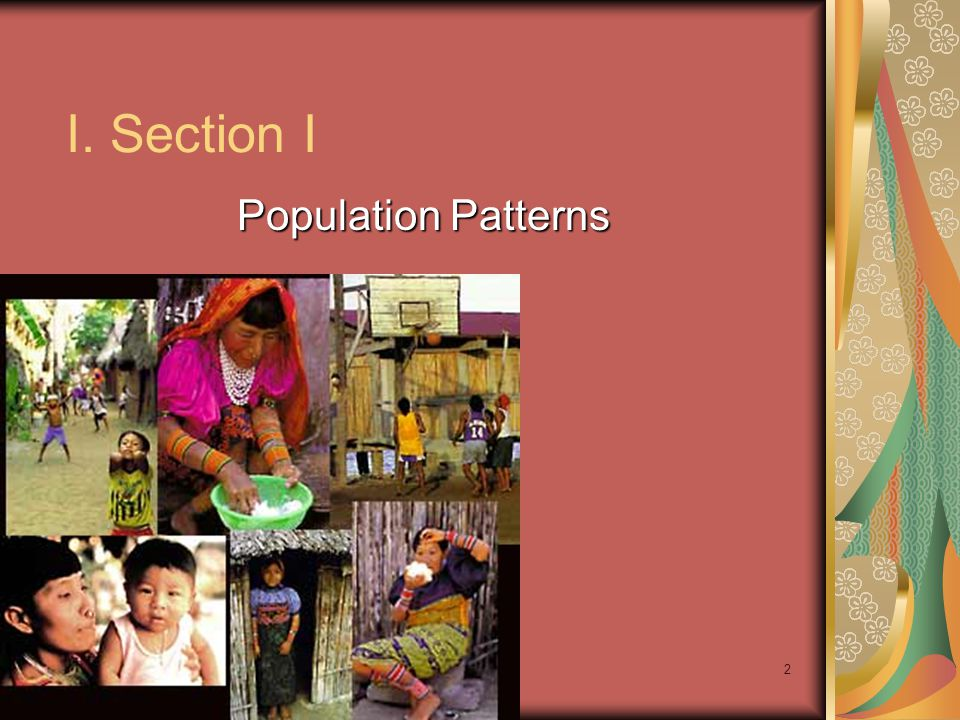I. Section I Population Patterns Ch 9 PP