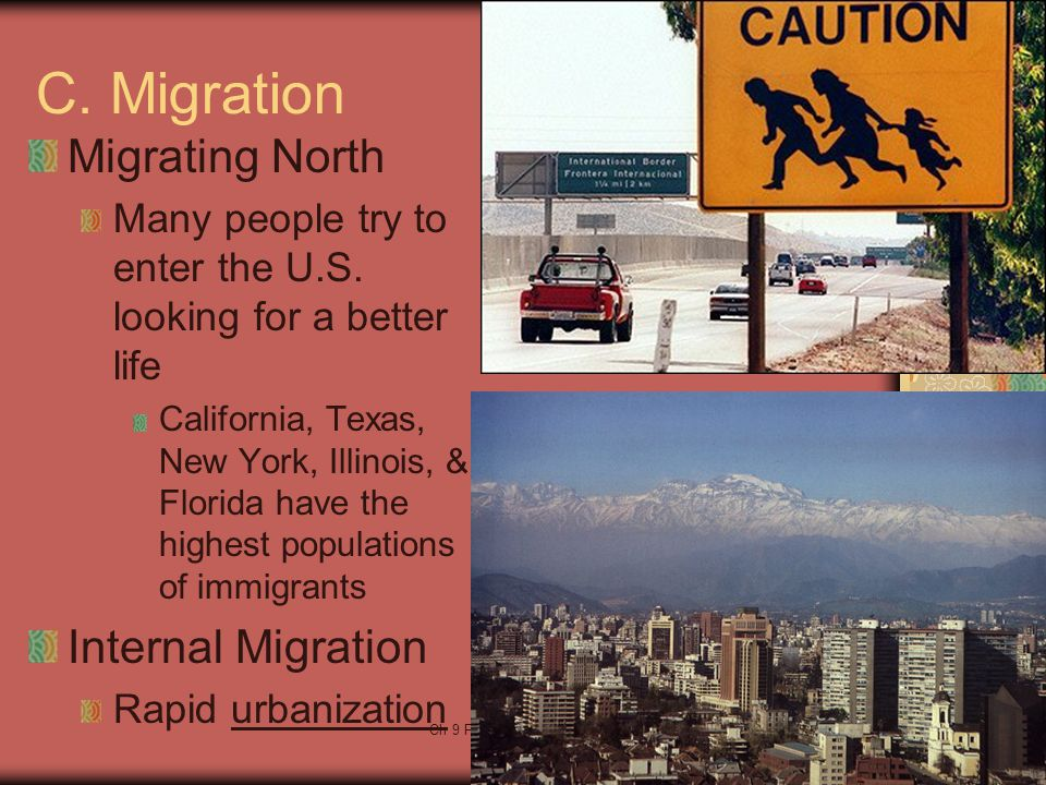 C. Migration Migrating North Internal Migration