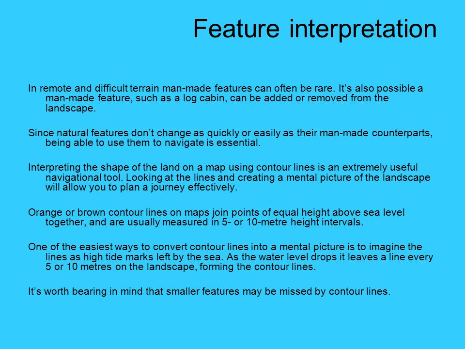Feature interpretation