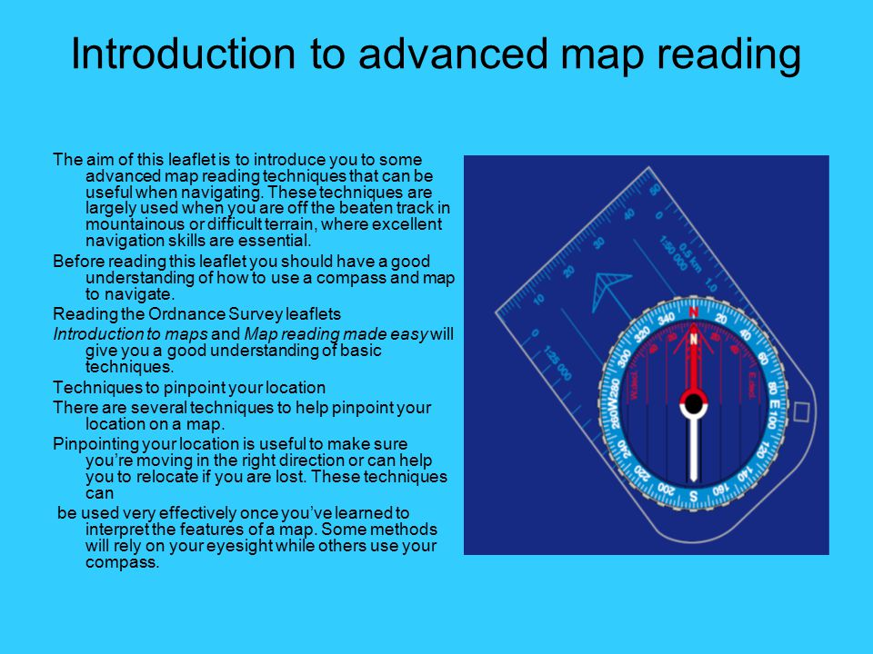 Introduction to advanced map reading