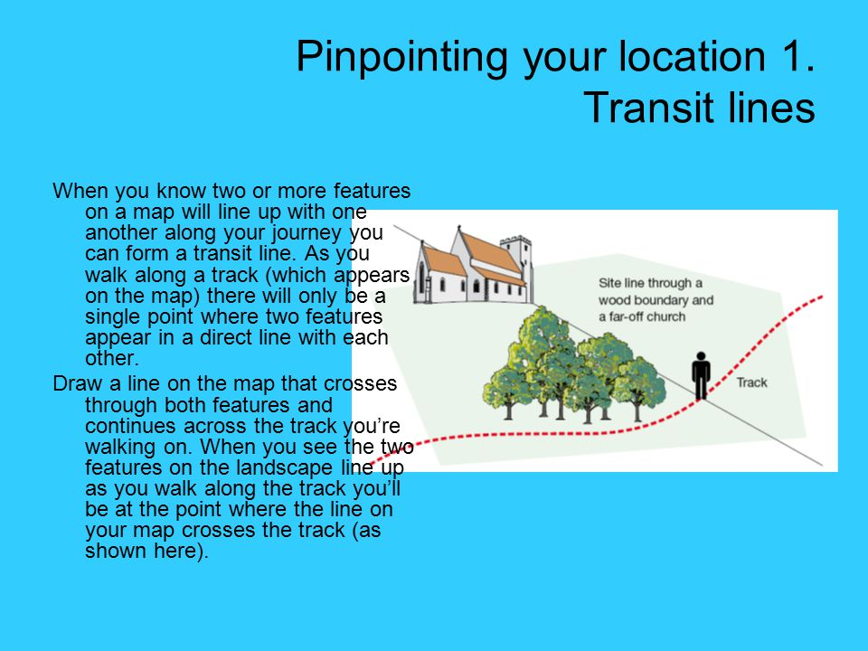 Pinpointing your location 1. Transit lines