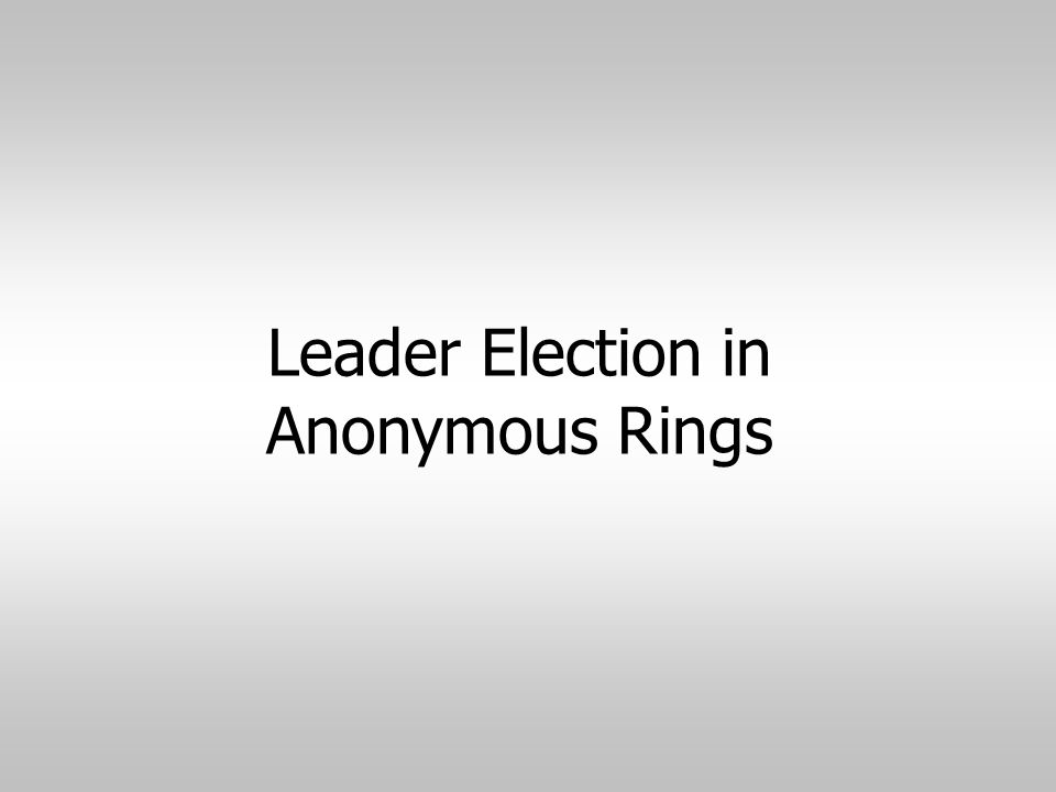 Leader Election in Anonymous Rings