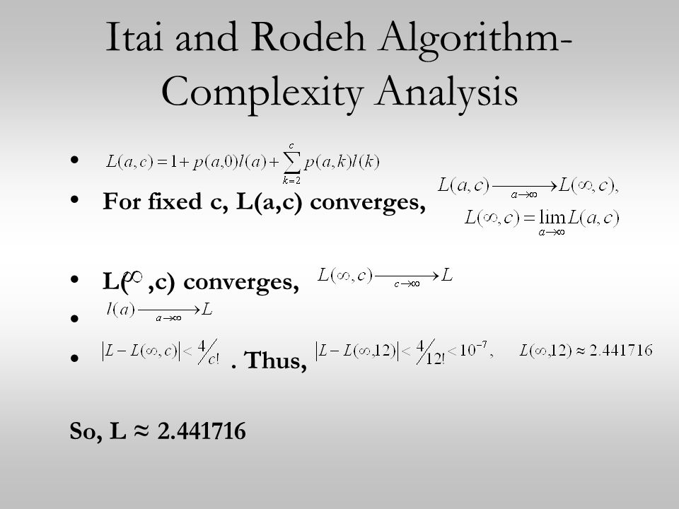 Itai and Rodeh Algorithm- Complexity Analysis