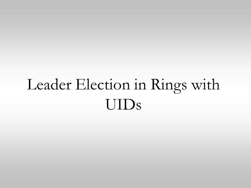 Leader Election in Rings with UIDs