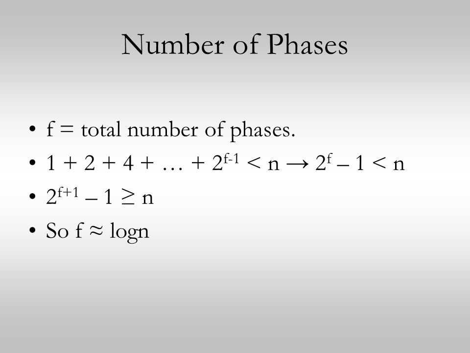 Number of Phases f = total number of phases.