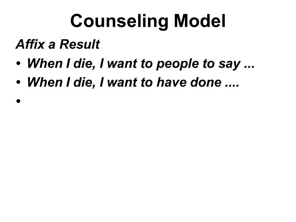 Counseling Model Affix a Result
