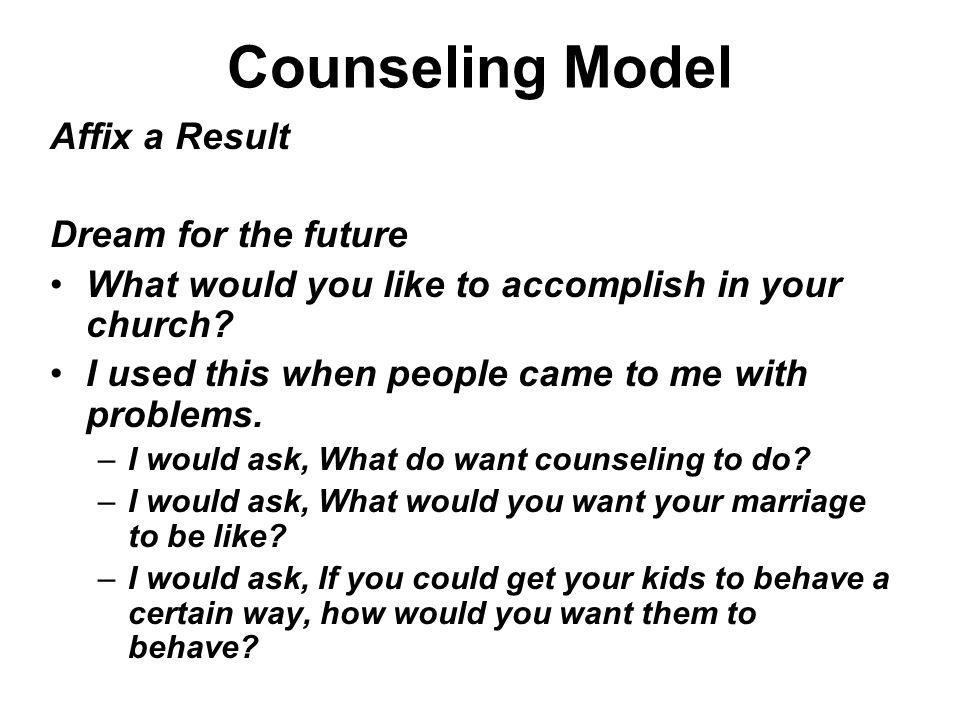 Counseling Model Affix a Result Dream for the future