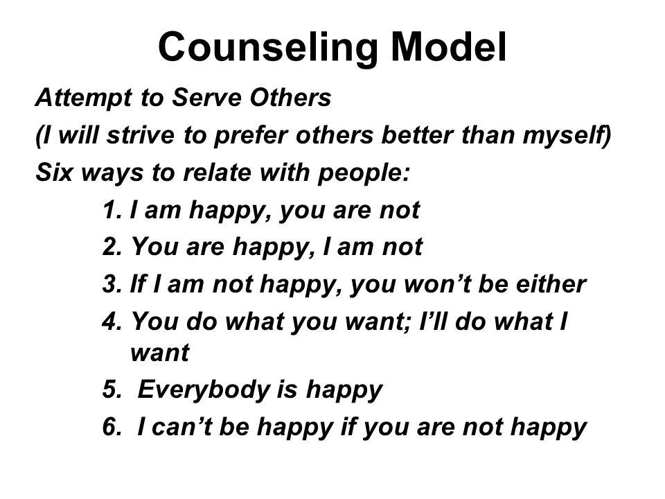 Counseling Model Attempt to Serve Others
