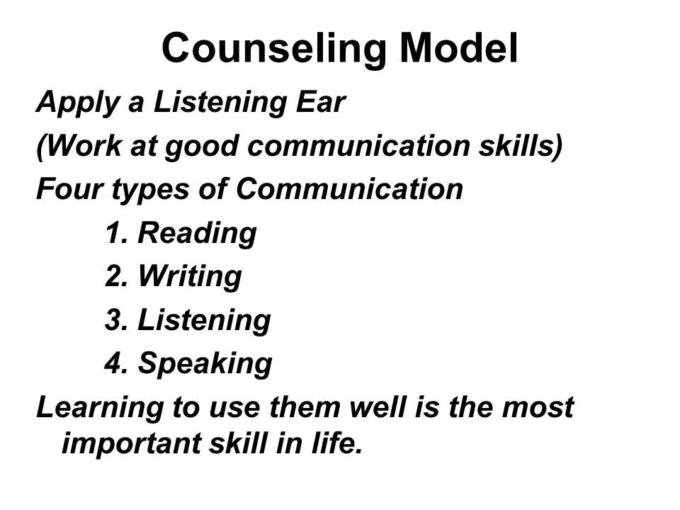 Counseling Model Apply a Listening Ear