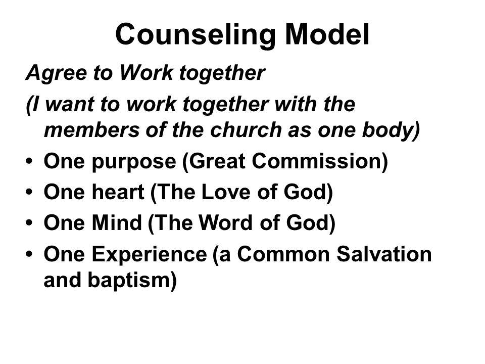 Counseling Model Agree to Work together