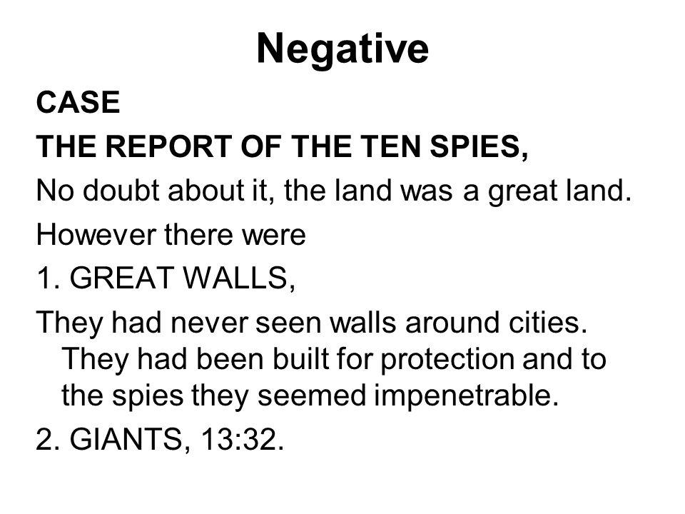 Negative CASE THE REPORT OF THE TEN SPIES,