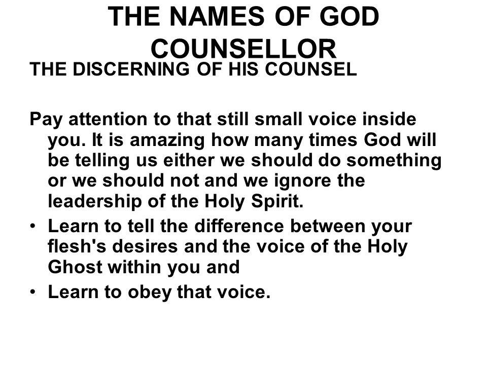 THE NAMES OF GOD COUNSELLOR