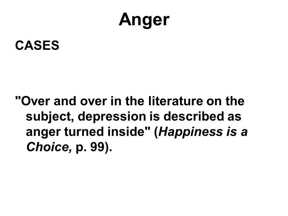 Anger CASES.