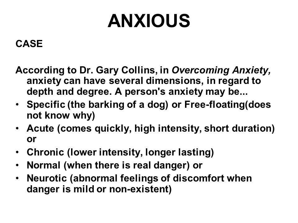 ANXIOUS CASE.