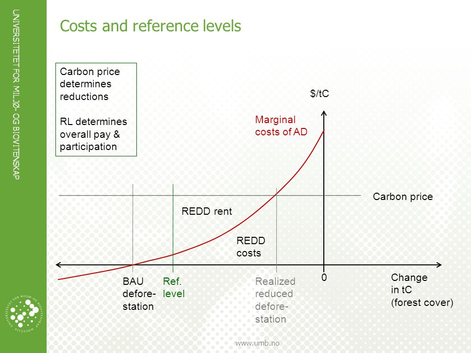 Costs and reference levels