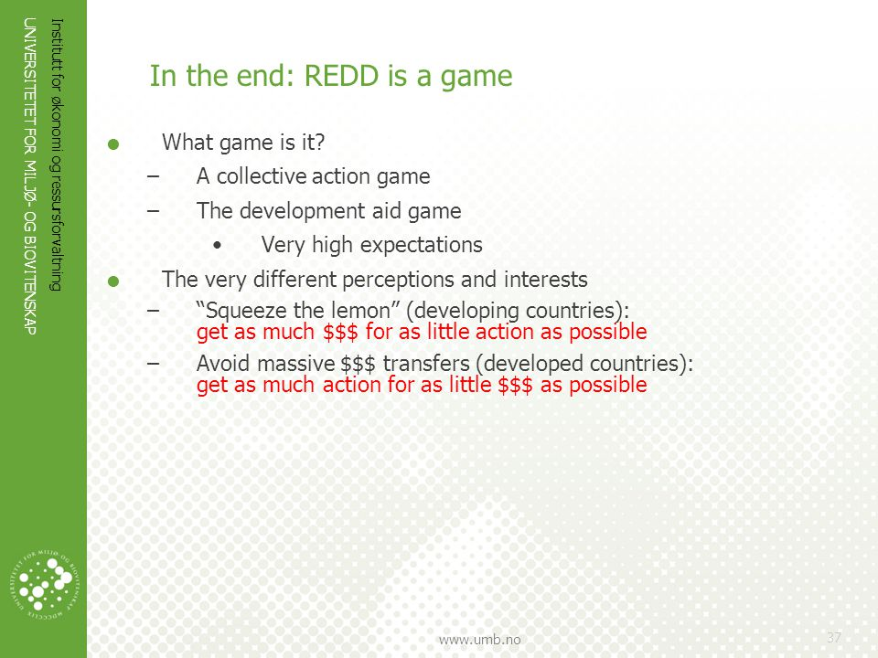 In the end: REDD is a game