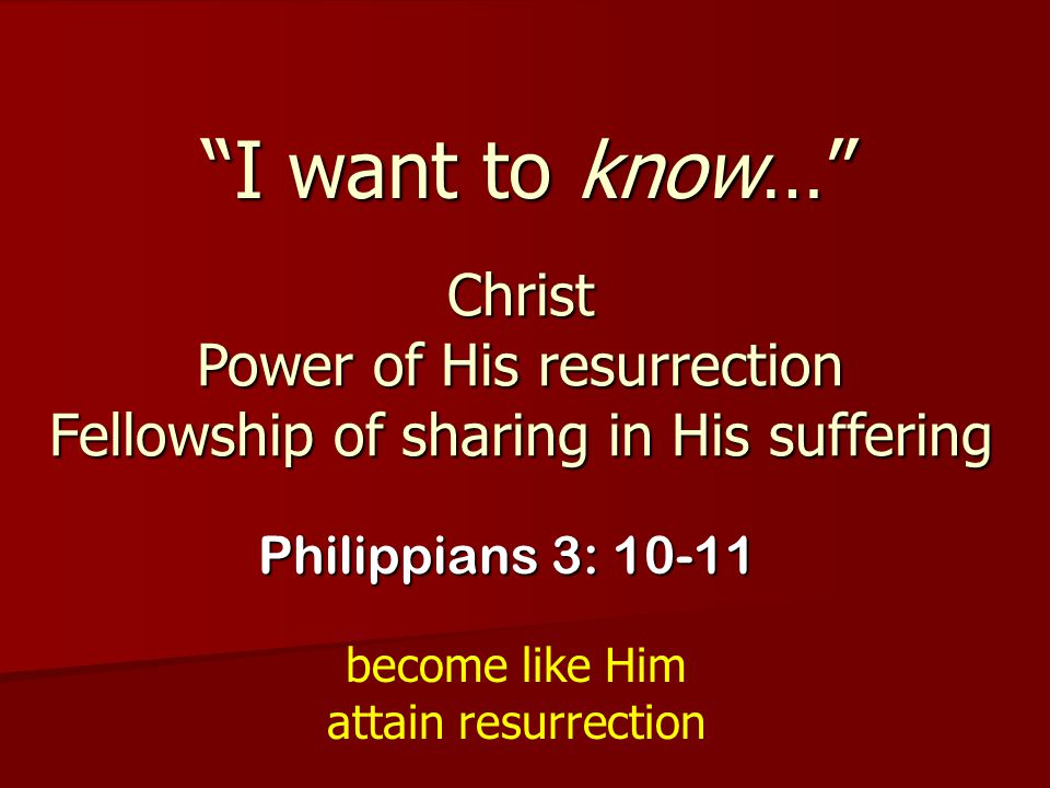 become like Him attain resurrection