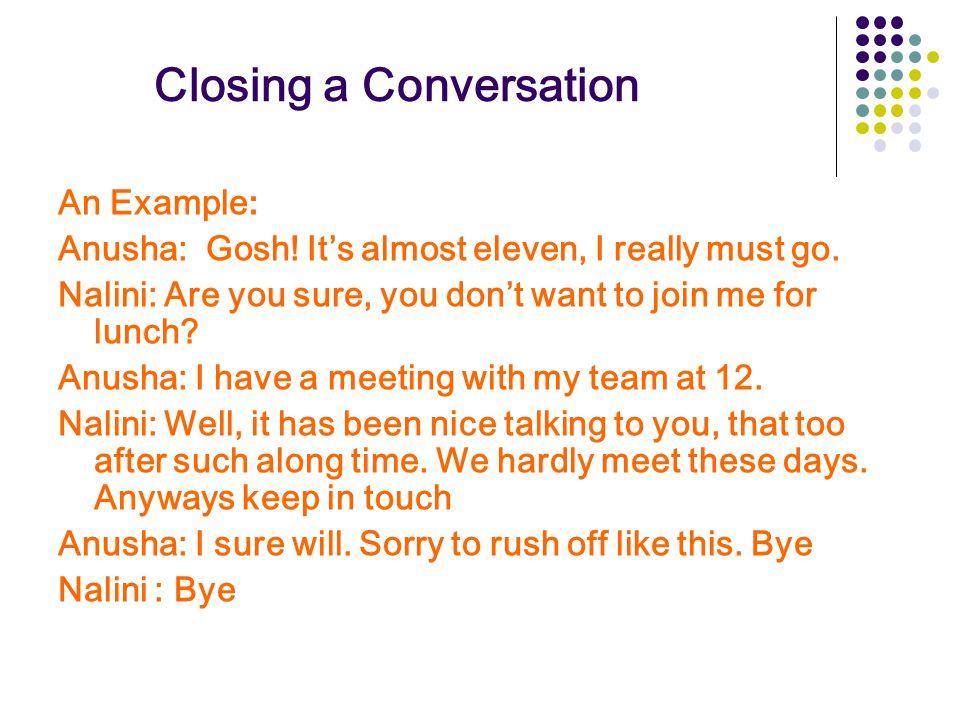 Closing a Conversation