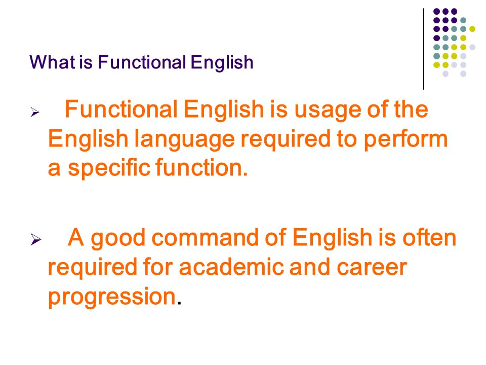 What is Functional English