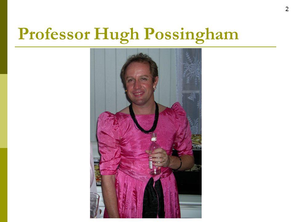 Professor Hugh Possingham