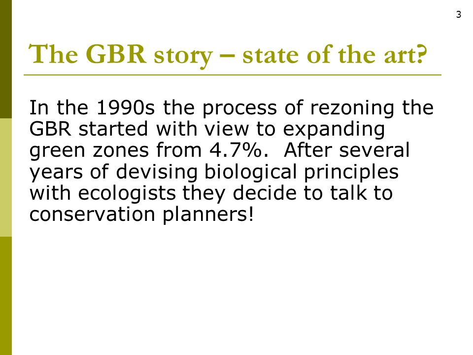 The GBR story – state of the art