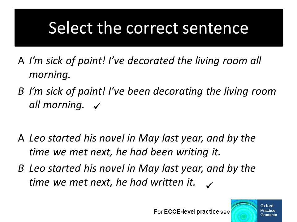 Select the correct sentence
