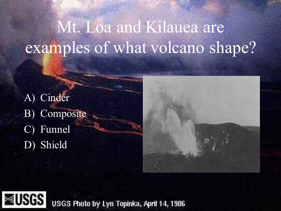 Mt. Loa and Kilauea are examples of what volcano shape