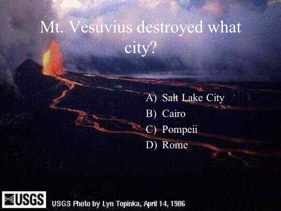 Mt. Vesuvius destroyed what city