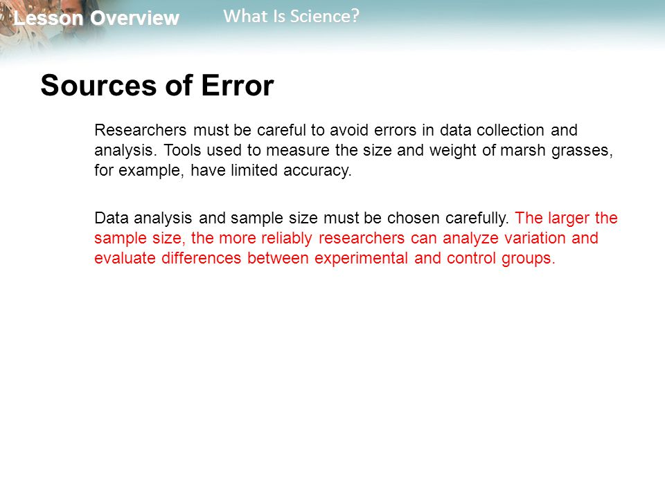 Sources of Error