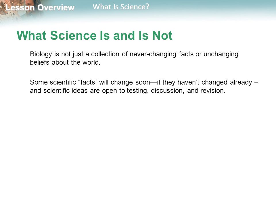 What Science Is and Is Not