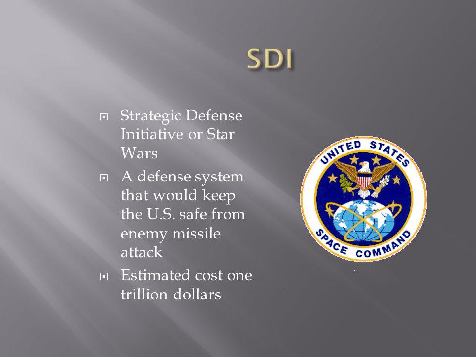 SDI Strategic Defense Initiative or Star Wars