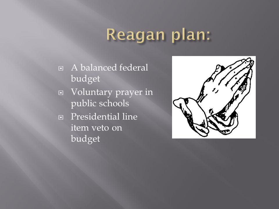 Reagan plan: A balanced federal budget