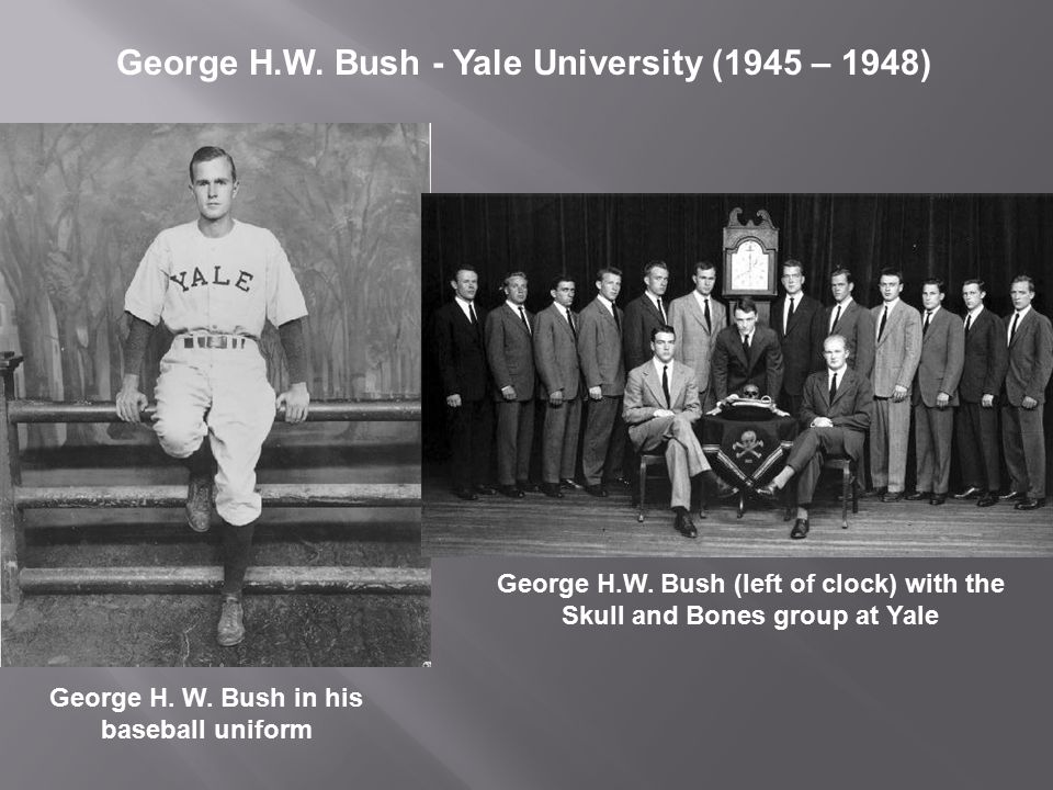 George H. W. Bush in his baseball uniform