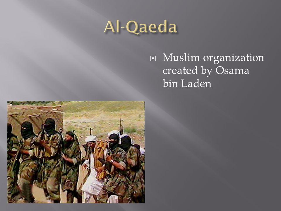 Al-Qaeda Muslim organization created by Osama bin Laden