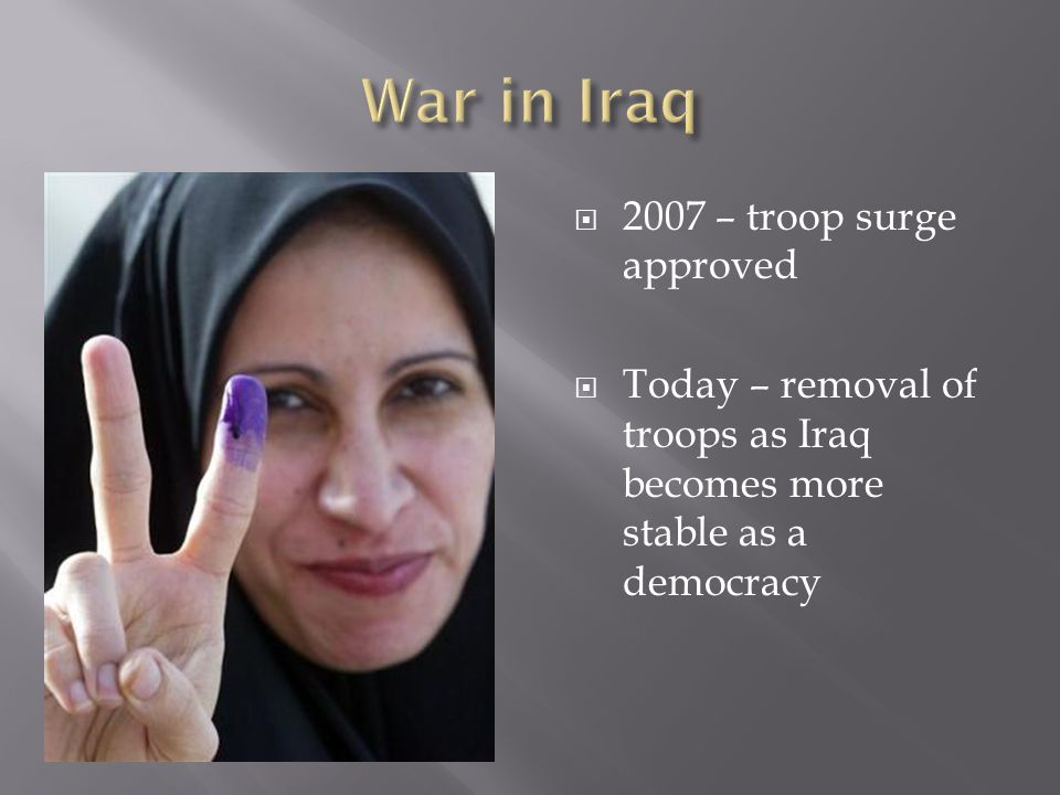 War in Iraq 2007 – troop surge approved