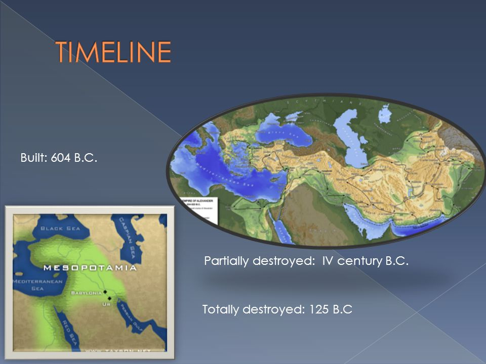 TIMELINE Built: 604 B.C. Partially destroyed: IV century B.C.