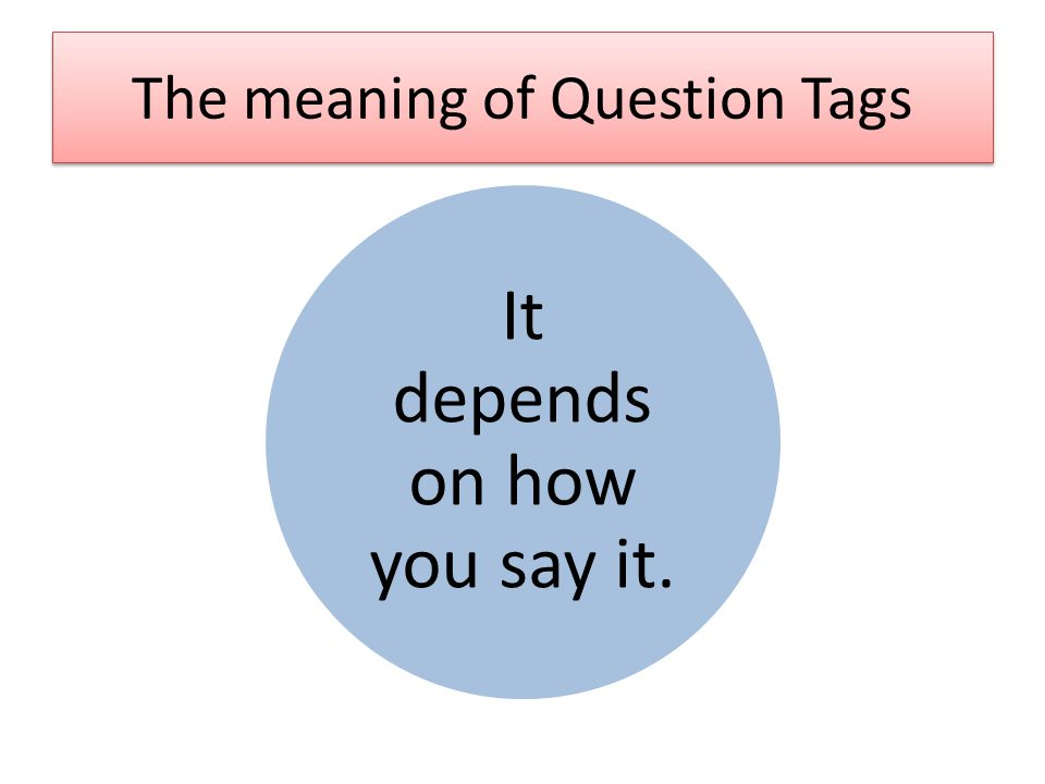 The meaning of Question Tags