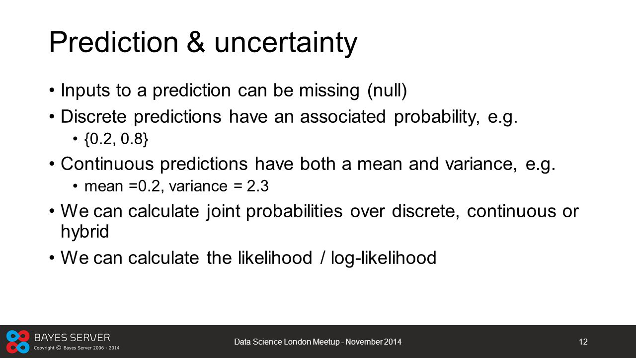 Prediction & uncertainty