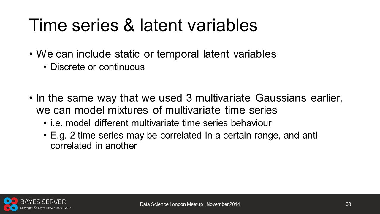 Time series & latent variables