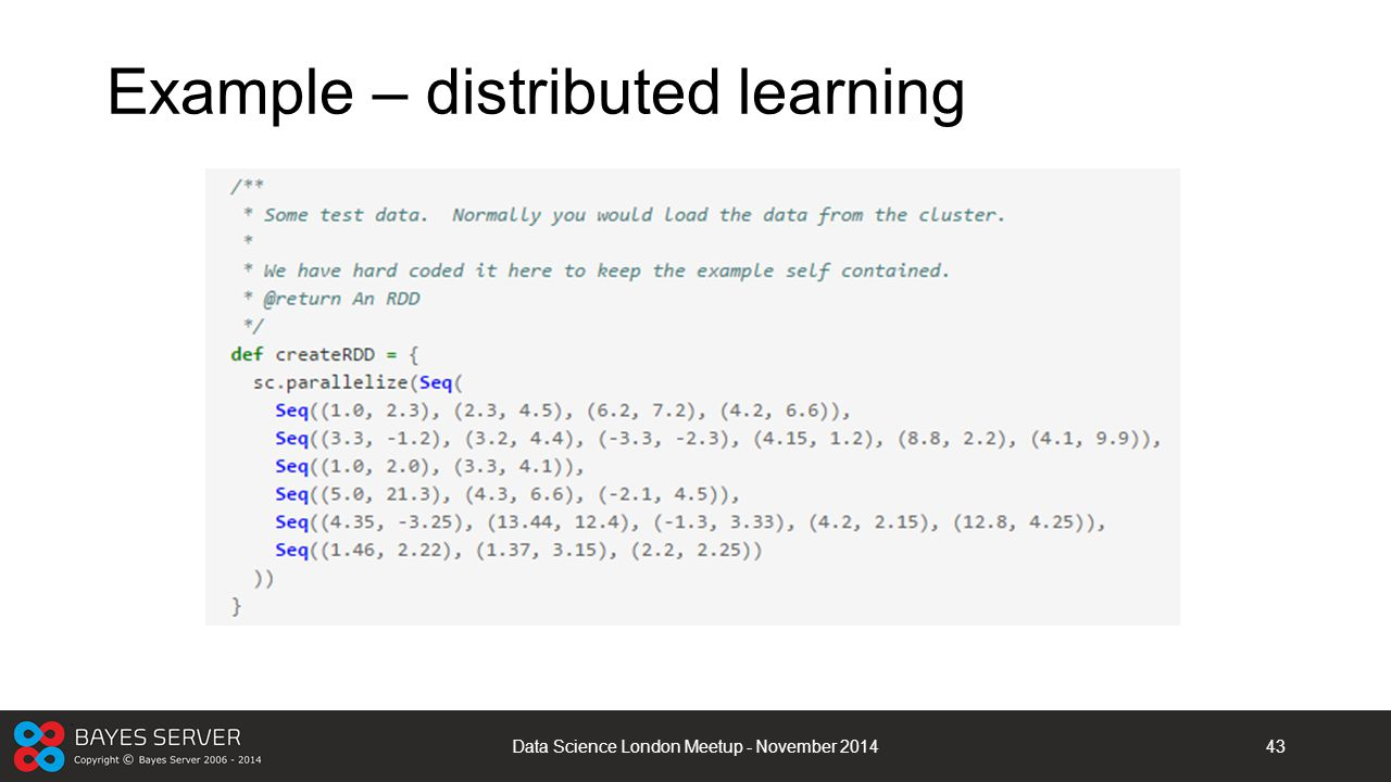 Example – distributed learning