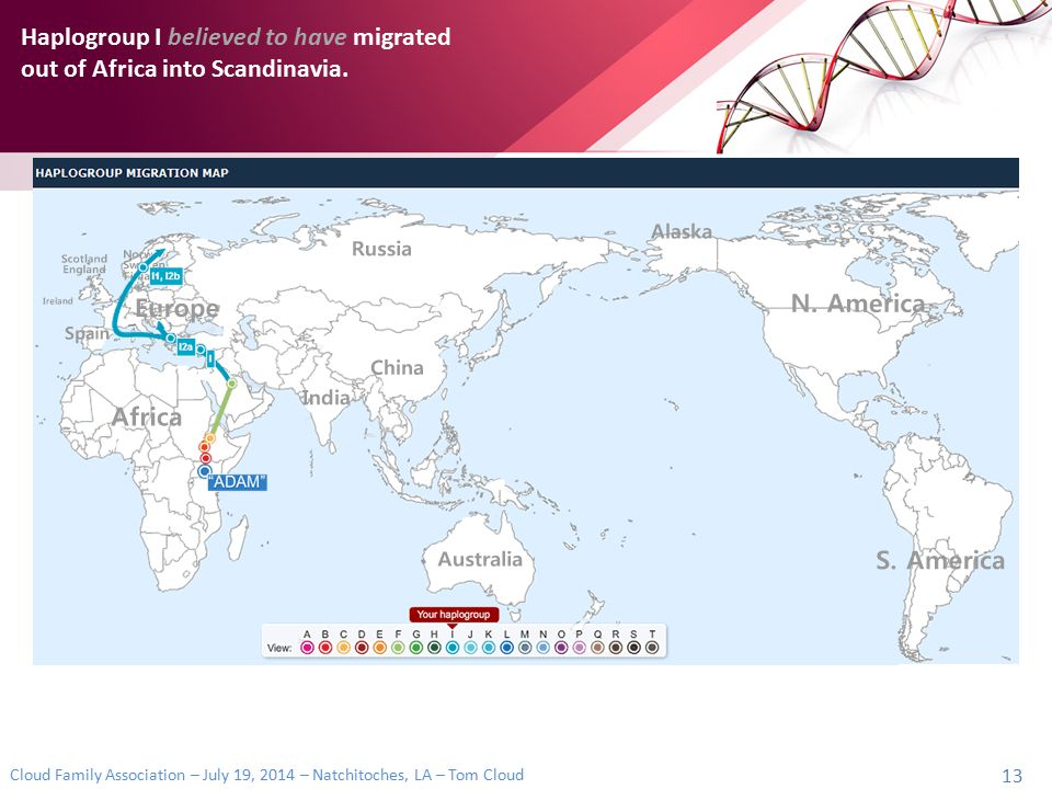 Haplogroup I believed to have migrated