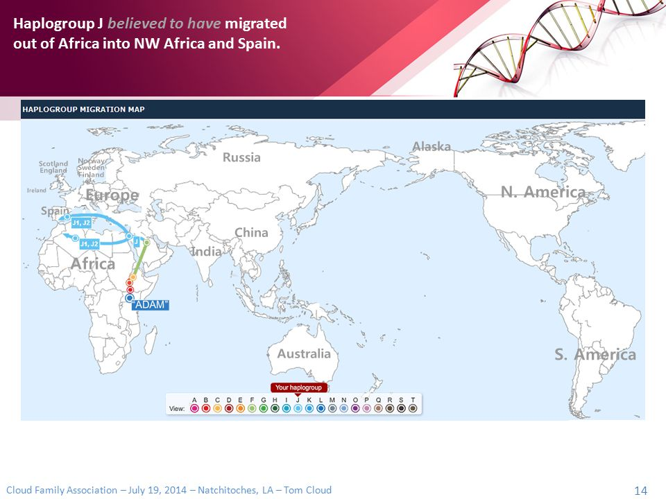 Haplogroup J believed to have migrated