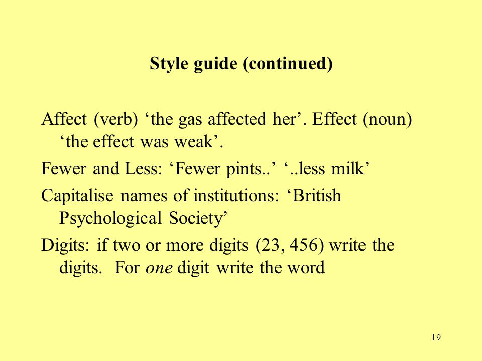 Style guide (continued)