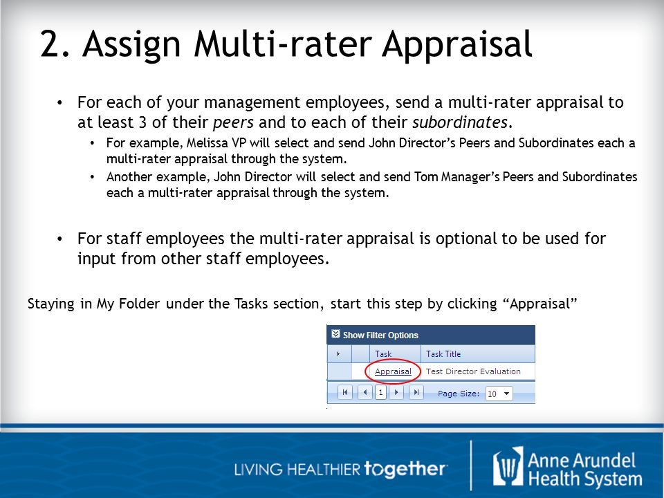 2. Assign Multi-rater Appraisal